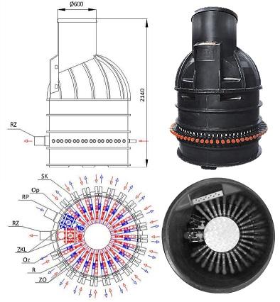 Spider Maxi fordelingsbrønd fra Energeo