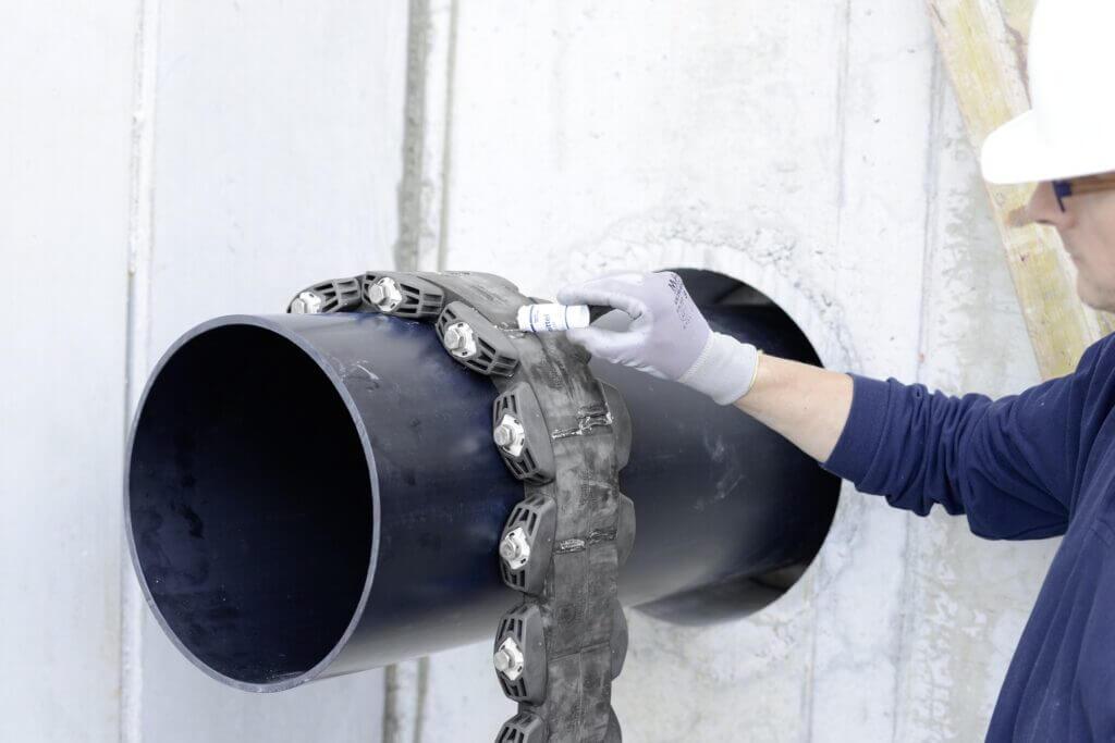 Murgennemføring af rør - Modulærtætning velegnet til eftermontering